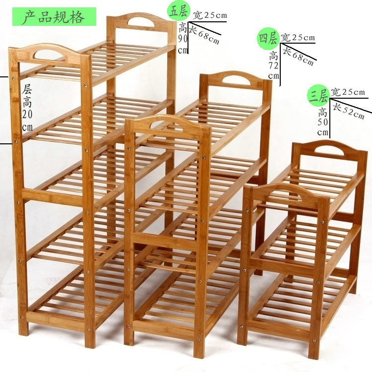 Eco-friendly High quality Bamboo Wood Shoe Rack Home Fashion Shoe Shelf  Creative Shoe Storage