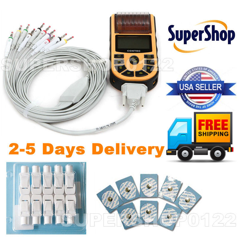 FDA CONTEC ECG80A, 1 Channel 12 lead ECG  Machine, PC SW, Printer ,EMS Free shipping dhl ems contec vga tpvga pc t e l s sg no 9984a isa pull from ipc pt m100 pc k c3 d9