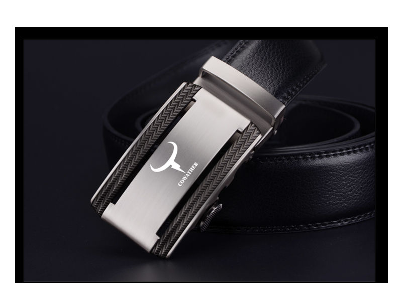 COWATHER 2017 new 100% cow genuine leather belts for men high quality alloy automatic buckle belt cinto masculino original 7