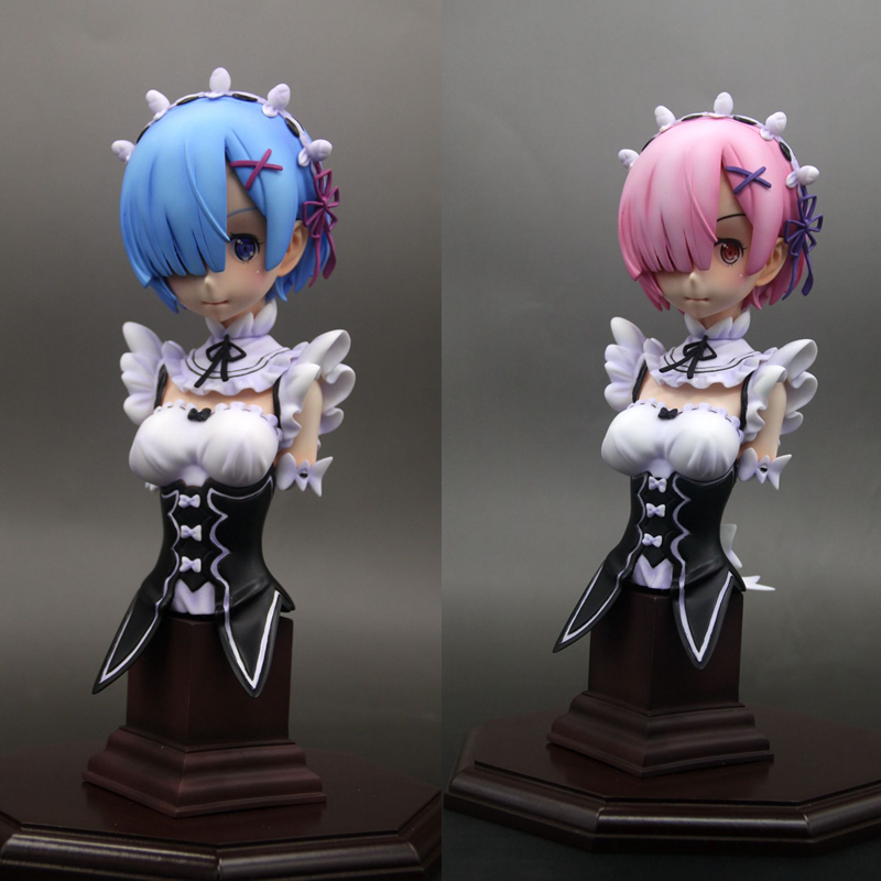 24cm Painted Resin GK Action figure Sexy Re:Life in a different world from Zero Rem Bust Can Cast off Collection Model with box цена