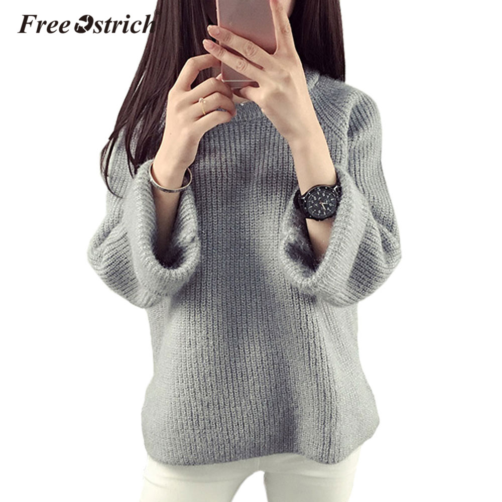Free Ostrich Sweater Women Pullover 2019 Winter Warm Pullovers High Quality  Candy Colors pull femme Comfort 8ae49f4b738b
