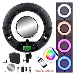 Yidoblo FC-480 Colorful 480 Led Photographic Lighting Dimmable 2800-10000k 96W Camera Phone Photo Studio Ring Light Lamp Mirror