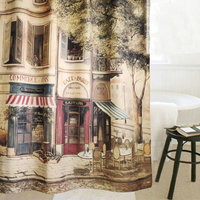 Fashion Vintage Shower Curtain Shower Curtain Fabric Thickening Waterproof Curtain Bathroom Curtain Set