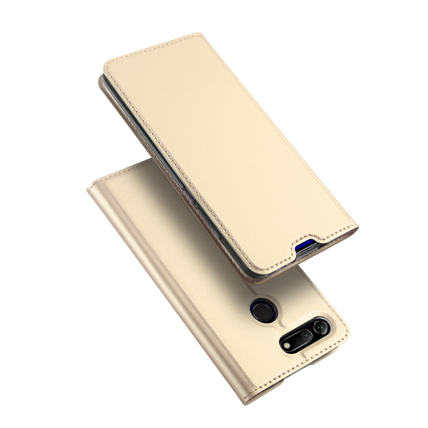 Flip Case For Huawei Honor V20 Soft Bumper Protective PU Leather TPU Card Slot Holder Wallet Stand Cover Mobile Phone Bag in Flip Cases from Cellphones Telecommunications