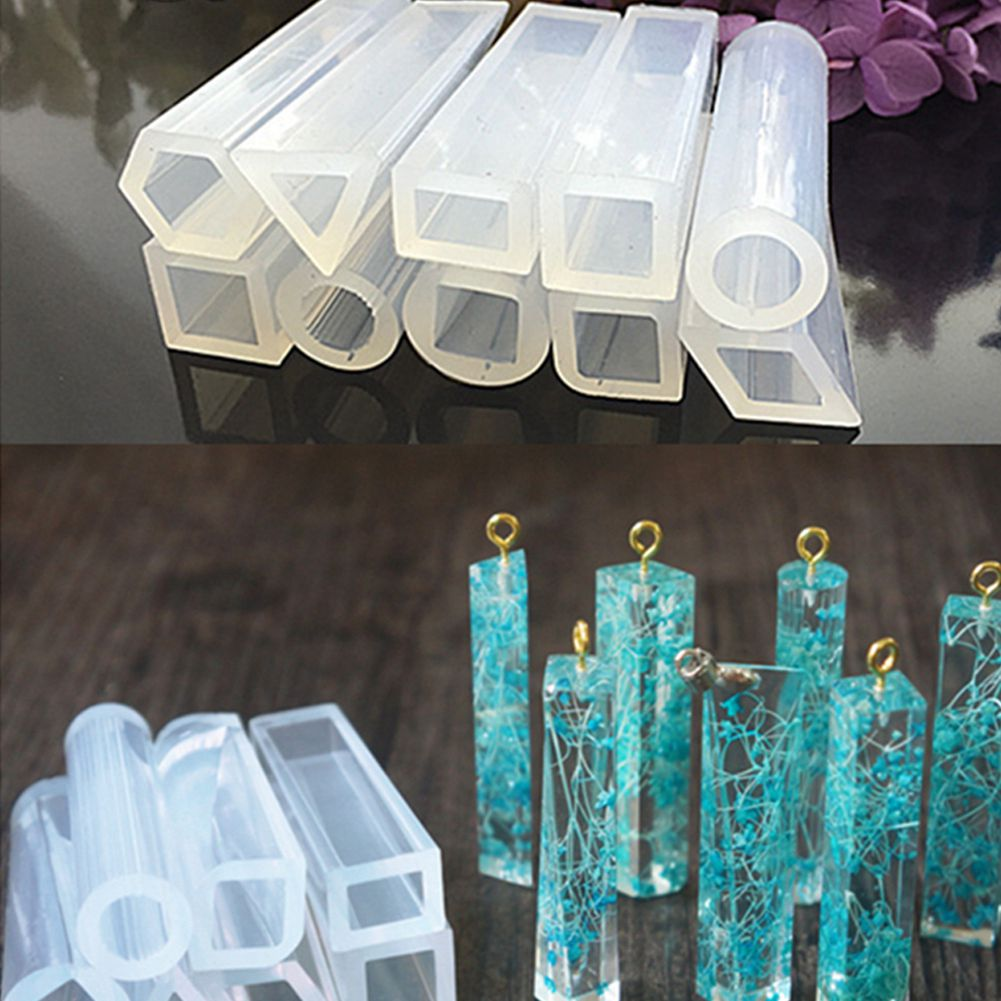 10 Pieces Assorted Shapes Silicone Pendant DIY Molds Resin Moulds For DIY Jewelry Making Pendant Tools