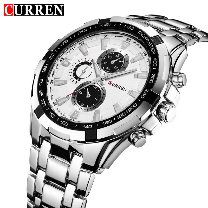 Relogio Masculino CURREN Watches font b Men b font quartz army Watch Top Brand Waterproof male
