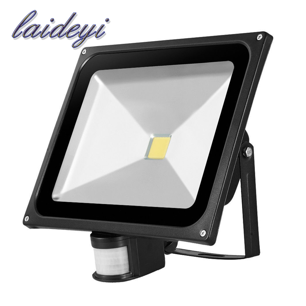2PCS IP65 Waterproof 50W COB Led Flood Light Spotlight AC85-265V Led Outdoor Street Lighting Pir Flood Light with Montion Sensor free shipping led flood outdoor floodlight 10w 20w 30w pir led flood light with motion sensor spotlight waterproof ac85 265v