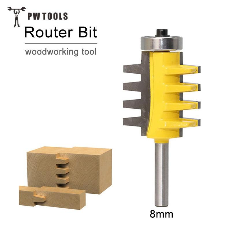 1/8 mango Reversible dedo conjunto pegamento Router poco madera herramientas de corte