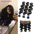 Brazilian Lace Frontal Closure Body Wave With 3 Bundles 13x4 Full Frontal Lace Closure With Bundles Brazilian Lace Frontal Weave