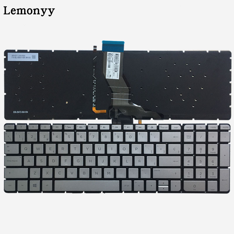 Spanish Laptop Keyboard for HP Envy 17 AE000 17 ae100 17t ae100 SP silver Keyboard with