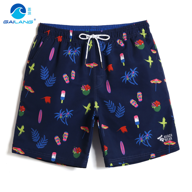 Men's New 2019 Gailang   Board     shorts   quick dry surfing joggers Navy Bathing suit sport de bain homme printed Beach   shorts   praia