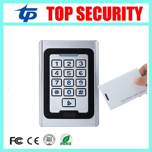 Good quality standalone metal access control reader single door 125khz RFID card access controller face waterproof card reader original access control card reader without keypad smart card reader 125khz rfid card reader door access reader manufacture