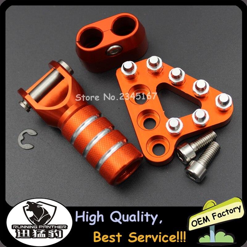 Repose-pieds de la p/édale de frein arri/ère et pointe du levier de changement de vitesse pour KTM SX EXC XCF XC XCW SXF SMR