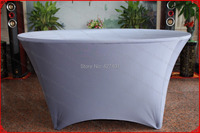 NO.34 Dark Silver Lycra/Spandex Table Cover/Tablecloth/Chair Cover for Wedding/Hotel/Banquet/Party/Home decor&textile