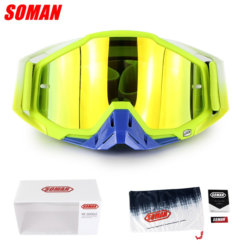 SOMAN SM11 Cross Field Glasses Dirt Bike Gozluk ATV Casque Okulary Moto Bike  Motorcycle Cycling Goggles Gafas