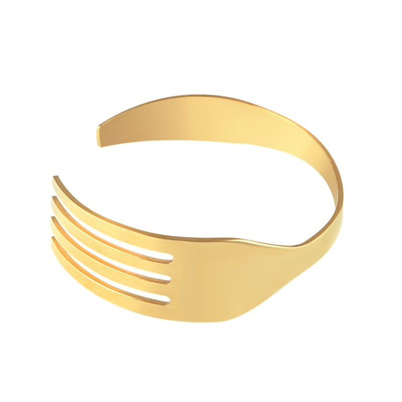 (10 pcs)Wholesale Fork And Knife Tableware Bangles Individuality Bijoux Titanium Stainless Steel Bangles & Bracelets