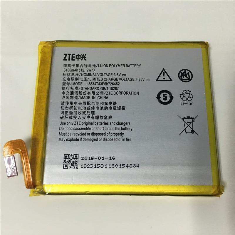 Li3834T43P6h726452 3400mAh 3.8V battery for ZTE zte blade a450 A450 mobile phone