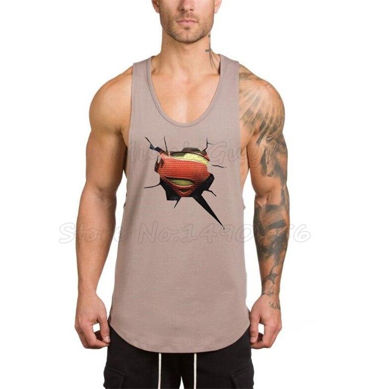 Marke Kleidung Bodybuilding Stringer Tank Top Mens 3d Gedruckt Superman Turnhallen Kleidung Fitness Männer Singlet Muscle ärmelloses Shirt