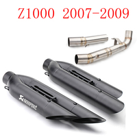 slip On Mid Pipe CAT Eliminator Race Exhaust z1000 exhaust For Kawasaki Z1000 2007 2008 2009 with akrapovic exhaust