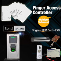 Vandal Proof Outdoor Installation 1500Users Waterproof Fingerprint Card Access Control System Secure For One Door Remote