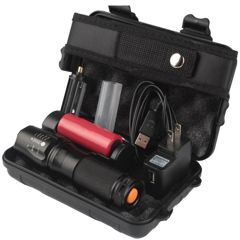 Super 6000lm Echtes Shadowhawk X800 Taktische Taschenlampe T6 LED Military Torch kit 170420