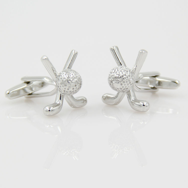 Silver color golf cufflinks - dimensional nail of the French mens shirt cuff cuff sleeve cufflinks for men,Free Shipping