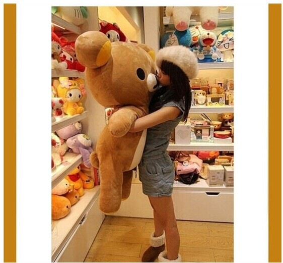 huge 110cm Rilakkuma bear plush toy doll throw pillow gift w4617 цена