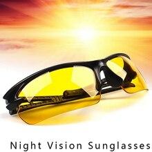Gece görüş gözlüğü sürücüleri gözlük anti gece ışık sürüş gözlükleri erkekler spor güneş gözlüğü gözlük araba aksesuarları
