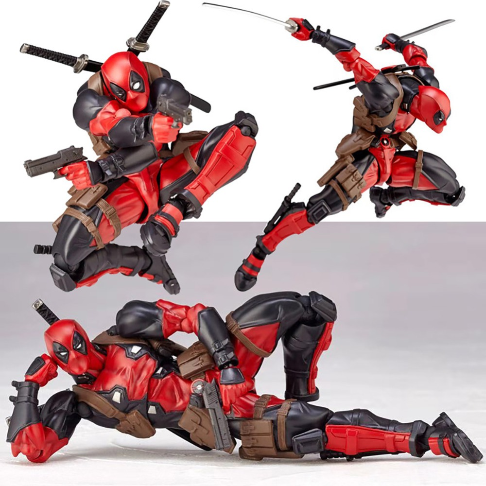 15cm Deadpool Marvel model super heroes Action figures PVC X-man weapon body dolls DIY collection toys Educational gifts classic15cm Deadpool Marvel model super heroes Action figures PVC X-man weapon body dolls DIY collection toys Educational gifts classic