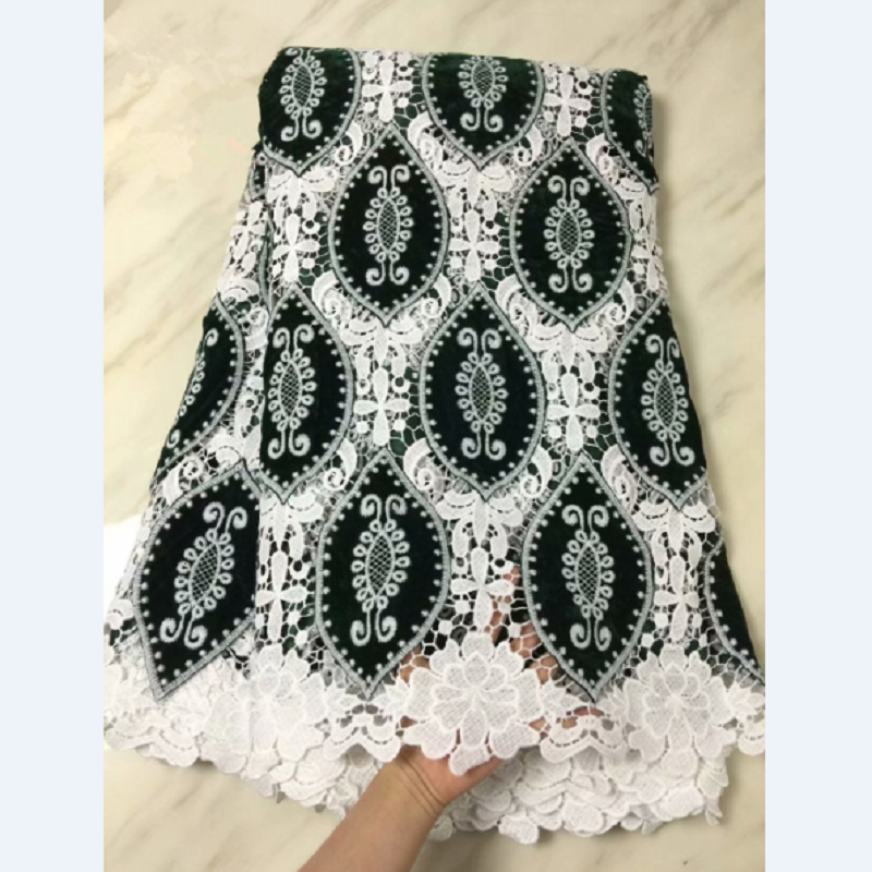 swiss milk fiber net lace patchwork velvet fabric for dress 5 yards high quality soft comfortable