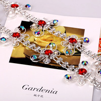 The New Butterfly Glass Crystal Rhinestone Claw Chain Or DIY Dress Decoration And Sew On Garment