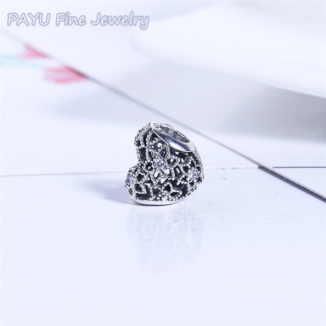 1d35e5053262 Payu joyas de plata 925 Blooming Heart Charm Bead Fit Bracelet original  Fine Jewelry beads for jewelry making