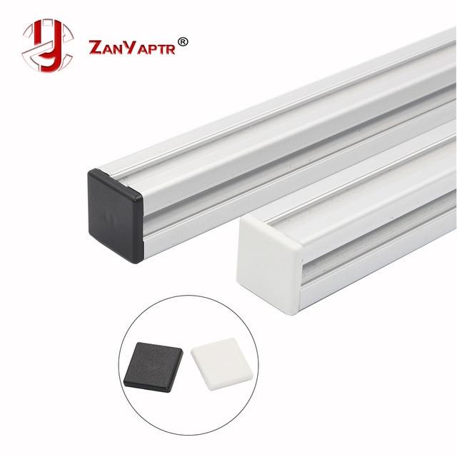 10pcs Plastic End Cap Cover Plate Black Or White For EU Aluminum Profile 2020 Endcap