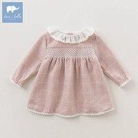 DBZ6132 Dave Bella Baby Princess Girl Wedding Birthday Dress Plaid Children Clothes Infant Designs GIRL S