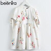 Beenira Girls Clothes Dresses 2018 European And American Style Children Flower Pattern Princess Dress Kids Summer