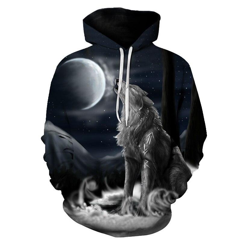Wolf Cool 3D unisex sportswear menswear Hoodie animal Casual