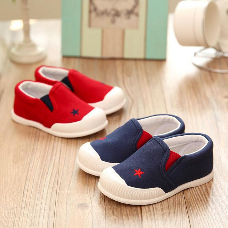 New Fashion Soft Soled Children font b Shoes b font For Girls Boys Comfortable Canvas Casual