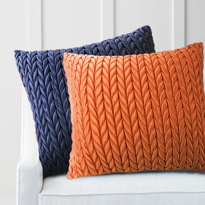 45cm blueorange braid pattern sofa pillow cushion cover decorative unique pillowcase indoor car