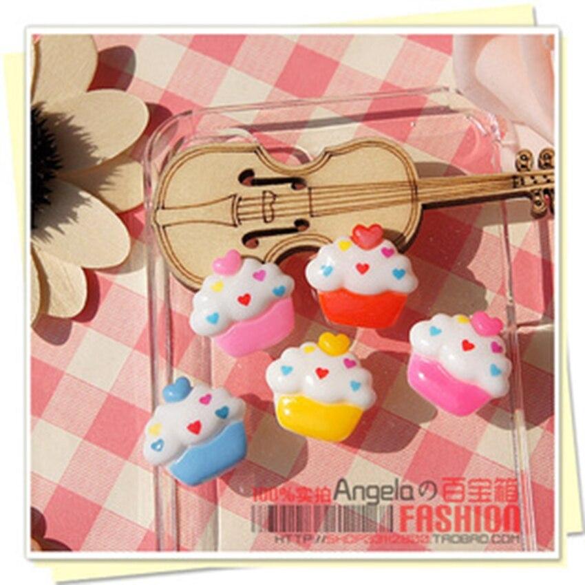 Jewelry Materials For Hair Decoration Really So Kawaii 40pcs Mixed 18mm Flat Back Reisn Cabochon Icecream