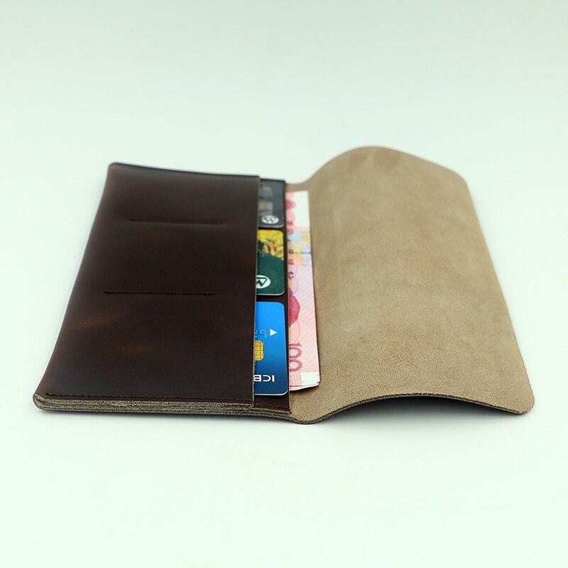 Vintage titular de la tarjeta monedero Retro viaje cubierta de la tarjeta de crédito del monedero carpetas del cuero genuino