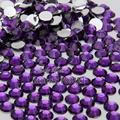 1000PCS ss12 3mm Glitter Nail Art Tips DIY Rhinestones Crystal Non Hotfix Flatback Nail Art Decoration BeadsDark Purple  N15