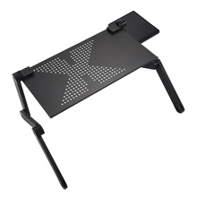 SWY-Portable Foldable Adjustable Laptop Desk Computer Table Stand Tray For Sofa Bed Black