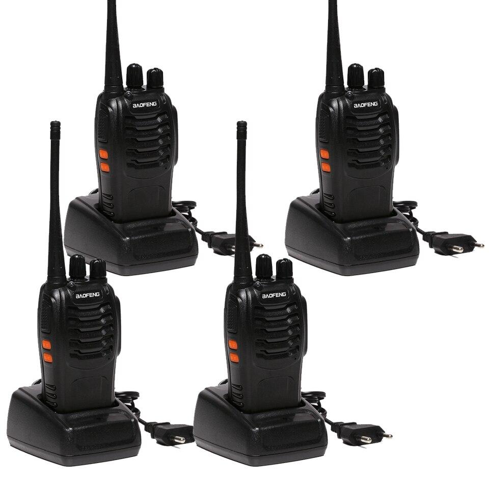 4 PCS Baofeng BF-888S Walkie Talkie Handheld Pofung bf 888s UHF 5W 400-470MHz 16CH Two Way Portable Scan Monitor Ham CB Radio