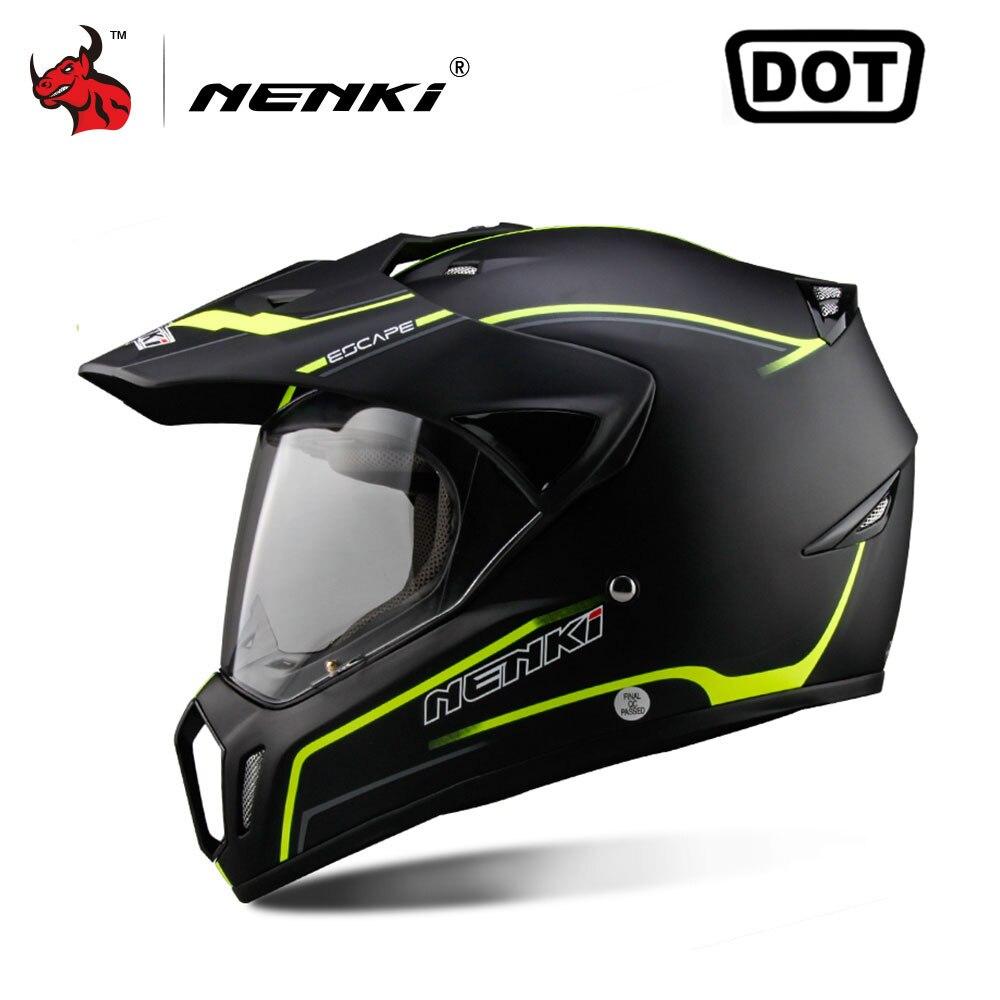 NENKI полный уход за кожей лица мотоциклетный шлем мотокросс шлем ATV мото шлем крест горные Off-road шлем для мужчин Casco мото точка 5 видов цветов