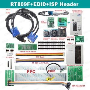 Image 3 - رائجة البيع RT809F شاشة الكريستال السائل ISP مبرمج مع SOP8 Peb لوحة تمديد EDID كابل 1.8 فولت محول وجميع محولات شحن مجاني