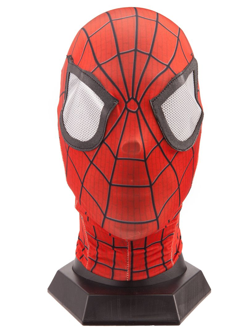 Halloween Mask Spiderman Flexible Mask Cosplay Hood Party Mask Full Head Spider Man 2 3D red