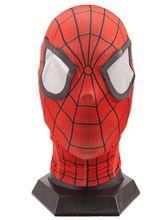 Máscara de Halloween Do Homem Aranha Flexível Máscara Capô Cosplay Partido Máscara Cabeça Cheia Máscaras Spider-Man 2 3D vermelho
