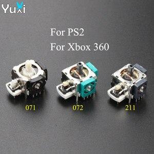 YuXi 2pcs 3D Analog Joystick Stick Potentiometer Module Sensor Repair Parts For Microsoft For Xbox 360/PS2 Controller Joystick(China)