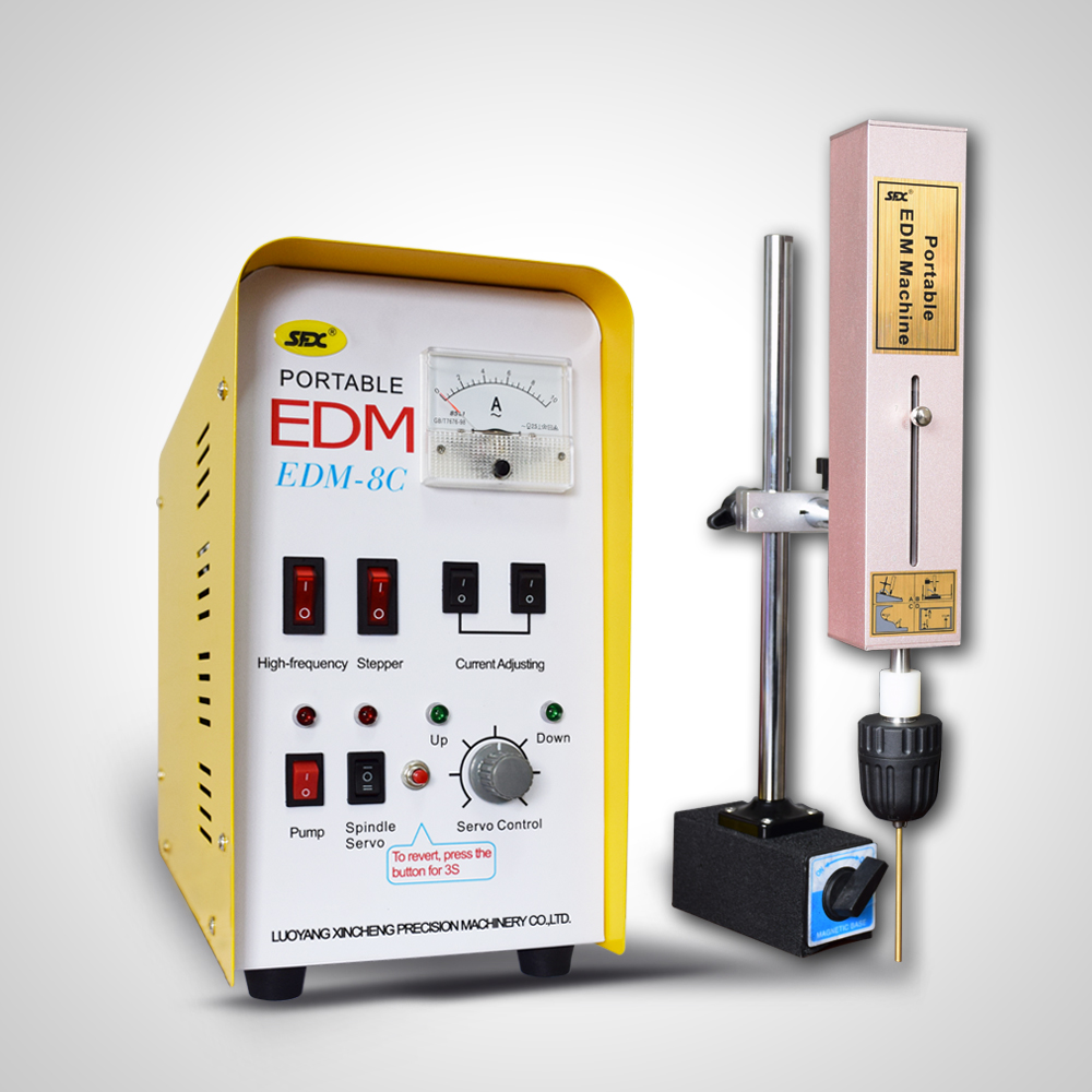 The Portable EDM Machine safely and easily removes broken studs, taps, screws and drills without damaging the threads.
