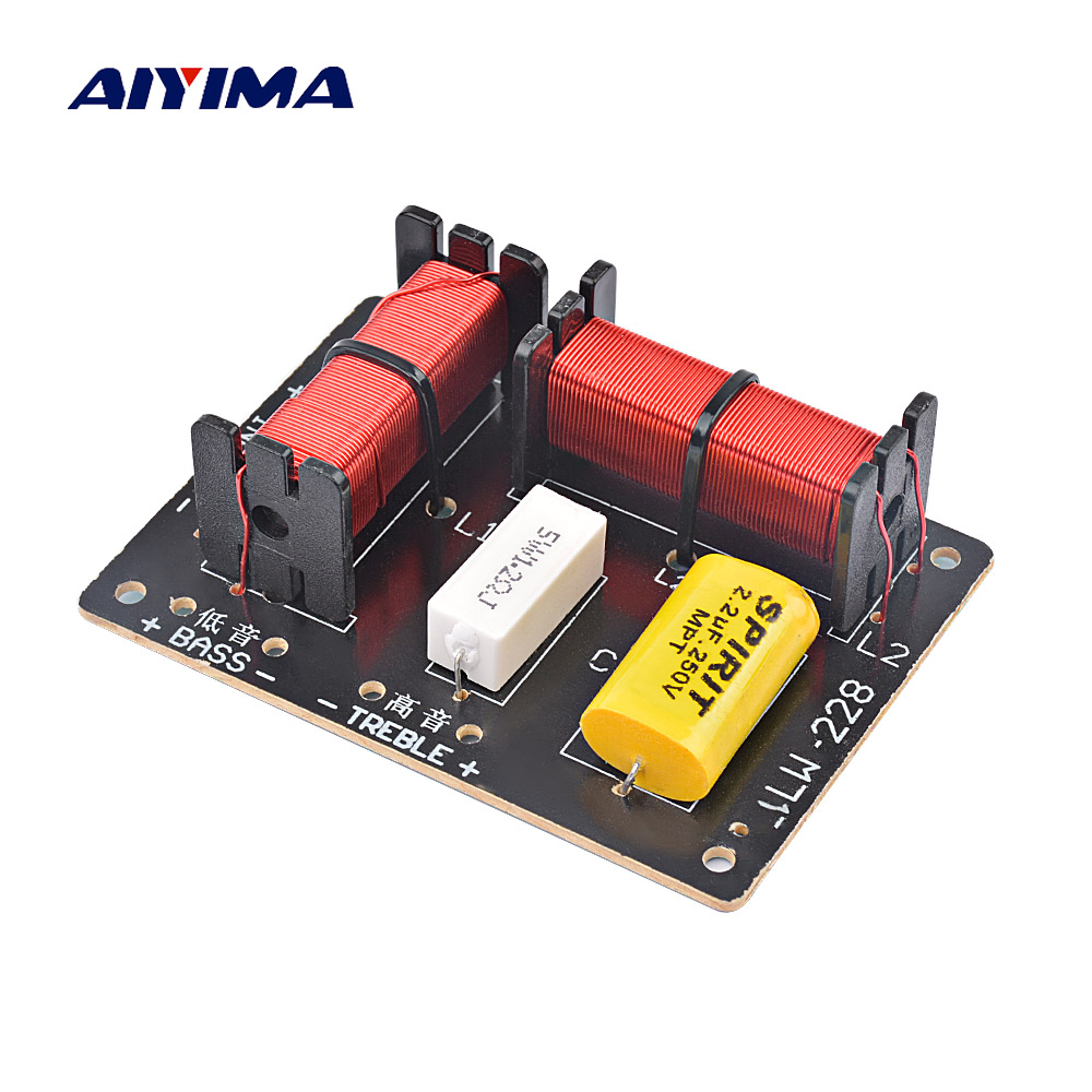 AIYIMA Professional Speakers Frequency Divider 120W Treble Bass 2 Way Crossover Audio Active Speaker Filter DIY For Home Theater